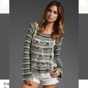 Free People Phoenix striped crochet sweater